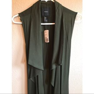 Forever 21 Jackets & Coats - Olive colored long vest size small